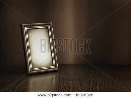 vintage photo-frame on table