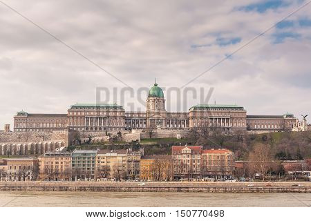 Buda Castle is the historical castle and palace complex of the Hungarian kings in Budapest and was first completed in 1265. In the past it has been called Royal Palace and Royal Castle.