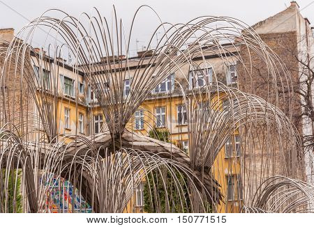 Tree Of Life Monument To The Victims Of The Holocaust Was Opened In 1990 In Budapest, Hungary