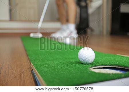 Golf Putting Practicing Mat Equipment at Home