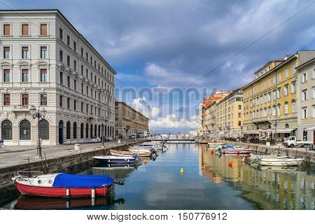 The Grand Canal looking towards the Adriatic sea in Trieste