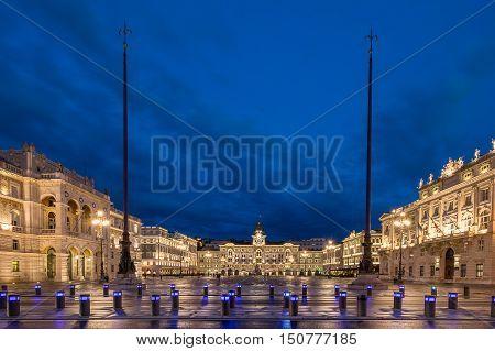 Piazza Dell Unita D Italia in Trieste