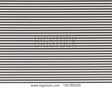 black and white striped painted surface metal lattice