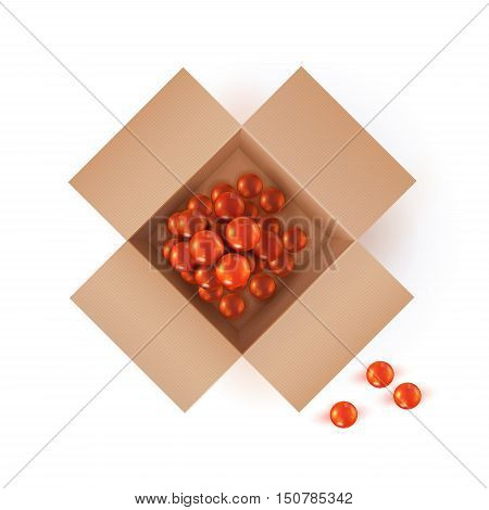 Colorful Vector Photorealistic Christmas Concept Illustration. Pack Of Glass Decorative Balls