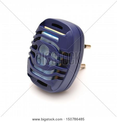 Anti-mosquito fumigator isolated on white background. Electricity.