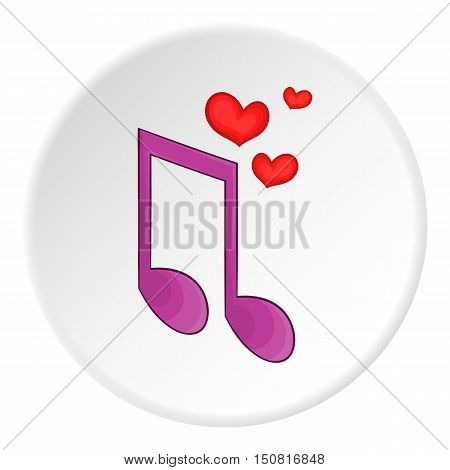 Love song icon. Cartoon illustration of love song vector icon for web