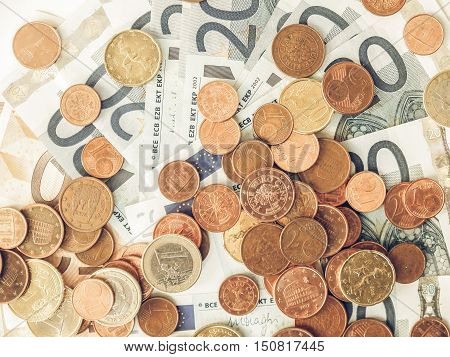 Vintage Euros Coins And Notes