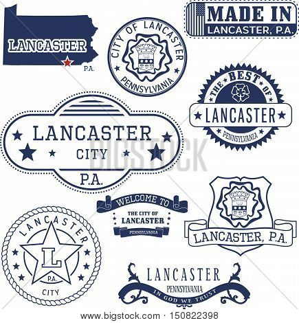 Generic Stamps And Signs Of Lancaster City, Pa