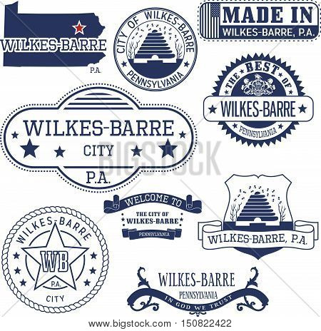Generic Stamps And Signs Of Wilkes-barre City, Pa