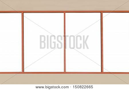 Window glass for show exterior views.for background.