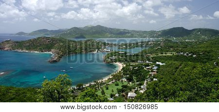 Views Of English Harbor And Freemans Bay From An Elevation Point -2