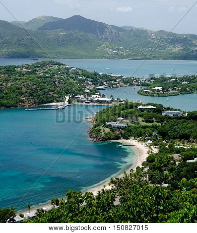 Views Of English Harbor And Freemans Bay From An Elevation Point -4