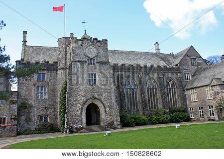 exterior of Dartington Hall in Devon, England