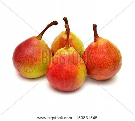 Pears isolated on white background. Fruit. Flat.
