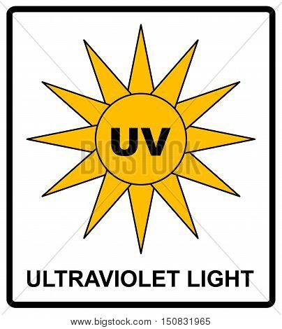 Intensity Ultraviolet Light Protect Your Eyes UV Vector sticker label for public places