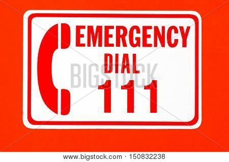 Call emergency 111 rescue forces in New Zealand.