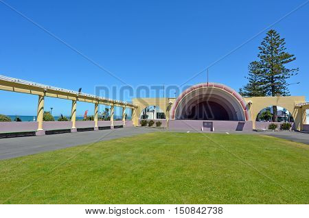 The Sound Shell in Napier the Art deco capital of New Zealand