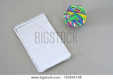 Note Pad With Rubber Band Ball