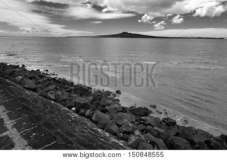 Landscape Of Rangitoto Island Auckland New Zealand