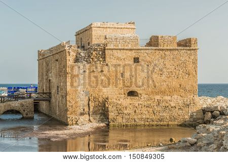 Port fort in Paphos, Cyprus.  This picture was taken on the island of Cyprus.