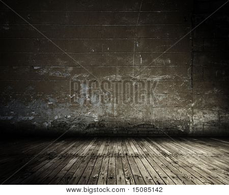 old grunge interior, vintage background