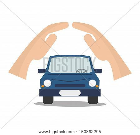 Car icon. Insurance health care and security theme. Colorful design. Vector illustration
