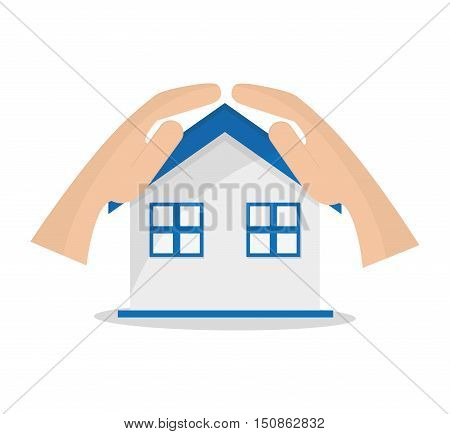 House icon. Insurance health care and security theme. Colorful design. Vector illustration