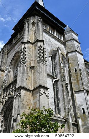 Neufchatel en Bray France - june 23 2016 : the Notre Damme church