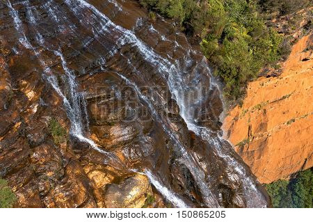 Wentworth Falls Waterfall View From Above, Blue Mountains, Australia