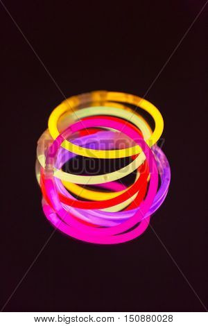 colorful neon light fluorescent disco bright ultraviolet