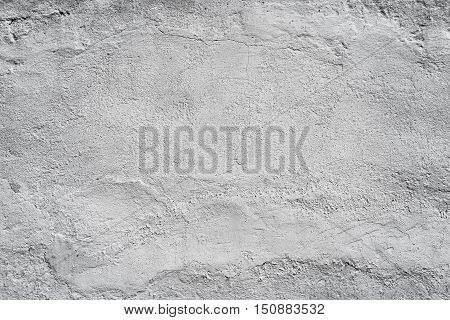 Whitewashed wall macro textured background with space for text