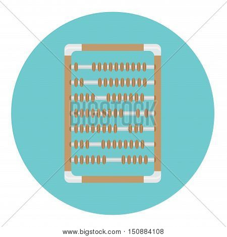 Calculator abacus icon for counting and accounting abacus isolated vector illustration