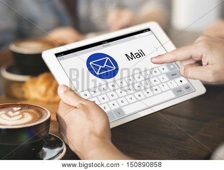 E-Mail Digital Application Webpage Concept