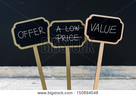 Business Message Offer Value Instead Of Low Price