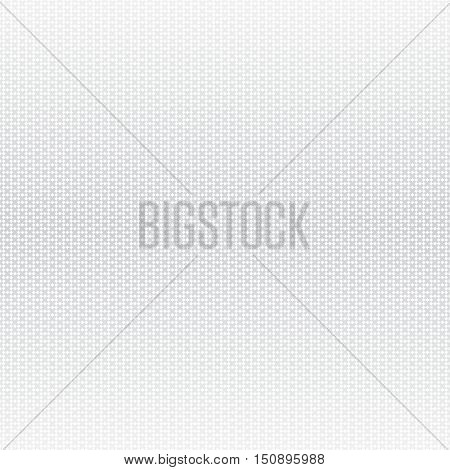 Vector seamless pattern. Abstract halftone background. Modern stylish texture. Repeating grid with crosses and rhombuses. Gradation from gray to white