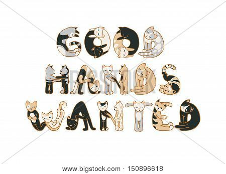 Good Hands Wanted. Animal Shelter Ad