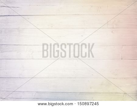 Light colorful white wooden planks, tabletop, floor surface. Wood texture