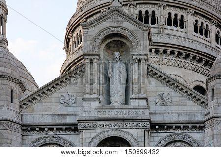 Sacre Coeur detail, close up, Montmartre, Paris, France