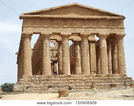 Ancient Temple of Concordia in Agrigento, Sicily, Italy