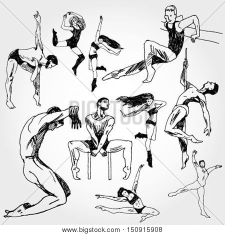 Some Doodled Dancing Bodies