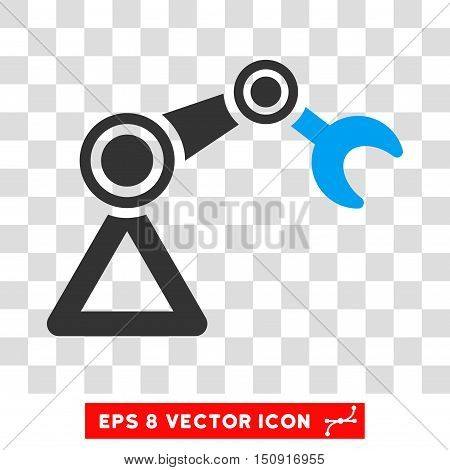 Vector Manipulator EPS vector icon. Illustration style is flat iconic bicolor blue and gray symbol on a transparent background.