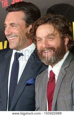 LOS ANGELES - OCT 8:  Jon Hamm, Zach Galifianakis at the