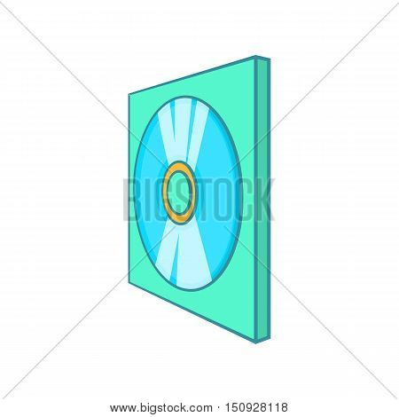 Game disk icon. Cartoon illustration of disk vector icon for web design