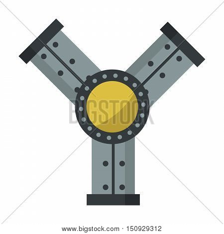 Parts of machinery flat mechanism manufacturing work detail design. Gear mechanical equipment part industry mechanism icon. Vector technology icon industry engineering technical factory mechanism