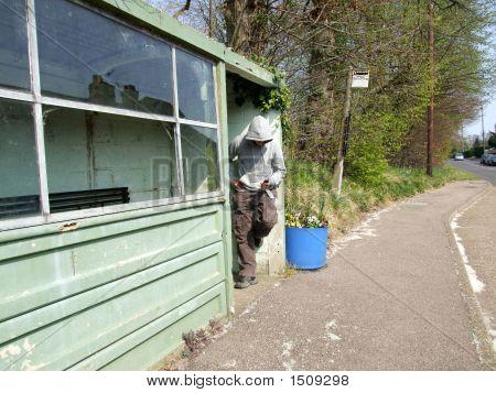 Hoodie At The Bus Stop