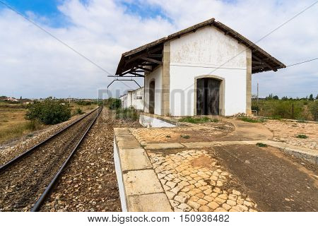 The Castro Marim station is some distance from town and in the middle of nowhere!