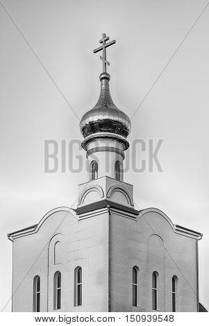 Traditional Orthodox Church In Frunze, Small Village In Crimea