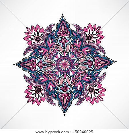 Arabic Ornament Background Oriental Ethnic Mandala Amulet Abstract Floral Geometric Pattern Geometri
