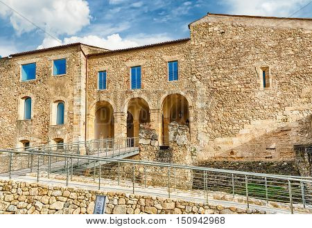 Main Entrance Of The Swabian Castle Of Cosenza, Italy