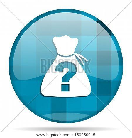 riddle blue round modern design internet icon on white background